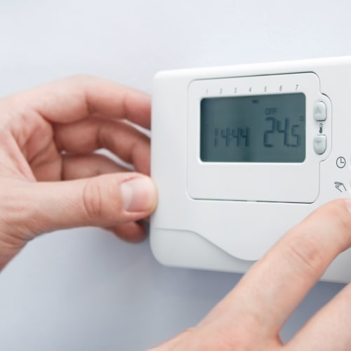 A thermostat for climate control near Red Dot Storage in Saint Joseph, Missouri