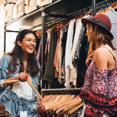 Friends shopping in Reno, Nevada near IDENTITY Reno