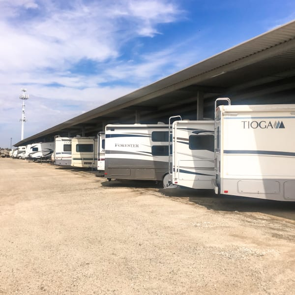 Covered RV parking at StorQuest Self Storage in Odessa, Florida