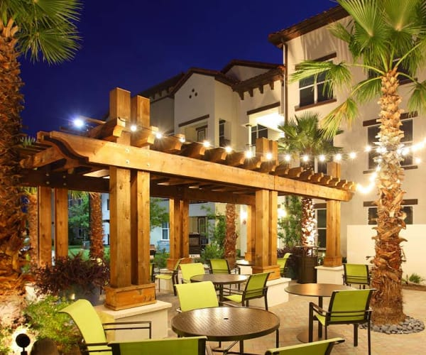 Exterior patio area at Jefferson Westshore in Tampa, Florida