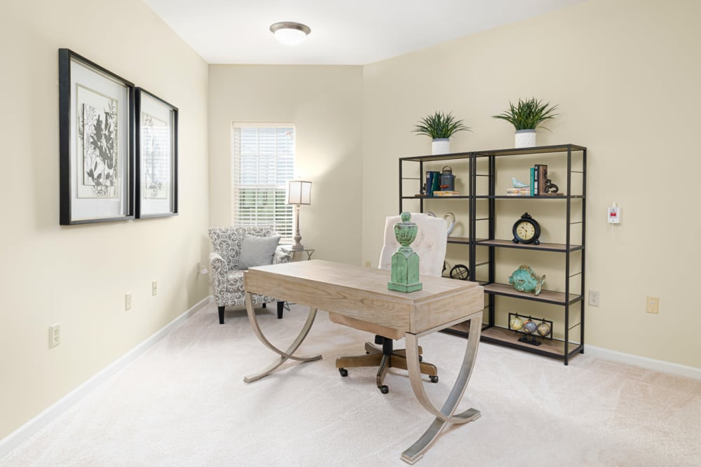 In-apartment home office at Harmony at Chantilly in Herndon, Virginia