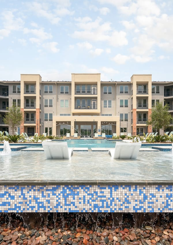 Sparkling pool and amenities at The Kennedy in San Antonio, Texas