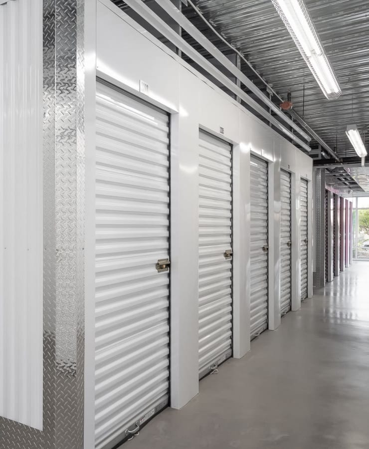 Small indoor units at StorQuest Self Storage in Dallas, Texas
