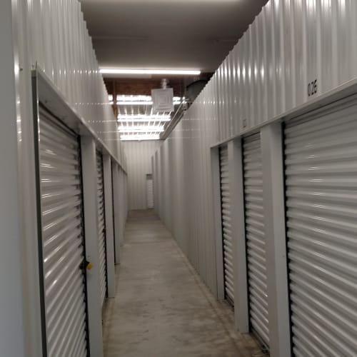 Indoor storage units at Red Dot Storage in Decatur, Illinois