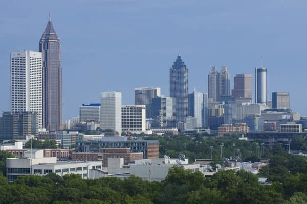 Skyline view near Park at Hurstbourne in Louisville, Kentucky