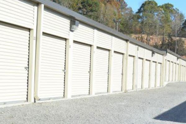Exterior units at Pinson Valley Self Storage in Pinson, Alabama near Pinson Valley Self Storage