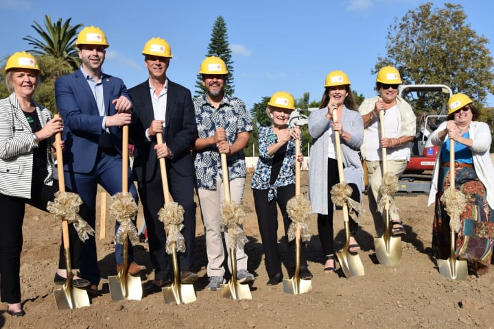 Breaking ground for the Seasons Memory Care at Rolling Hills with the Palos Verdes Chamber of Commerce and state, county representative
