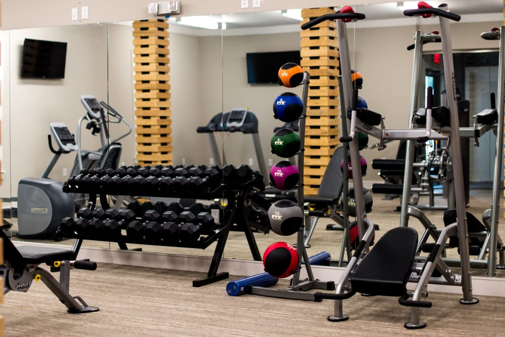 Fitness center at The Reserve on Bayou DeSiard in Monroe, Louisiana