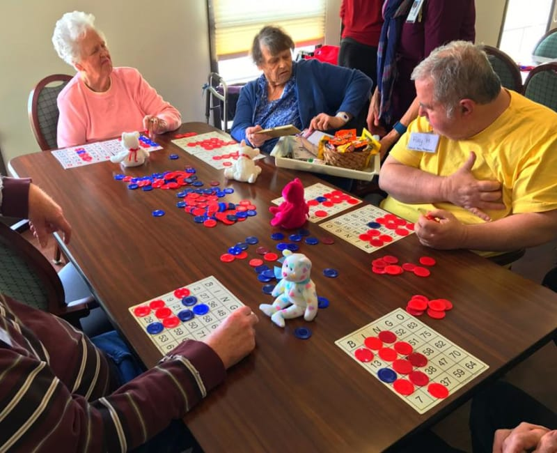 Residents playing bingo at Ebenezer Ridges Campus in Burnsville, Minnesota