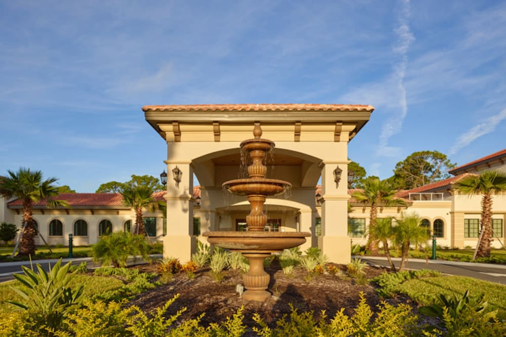 Exterior of The Fountains of Hope in Sarasota, Florida.