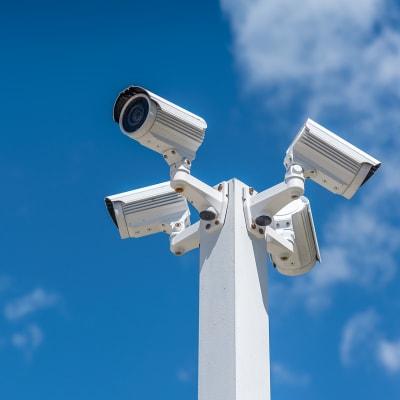 Digital security cameras at A-American Self Storage in Honolulu, Hawaii