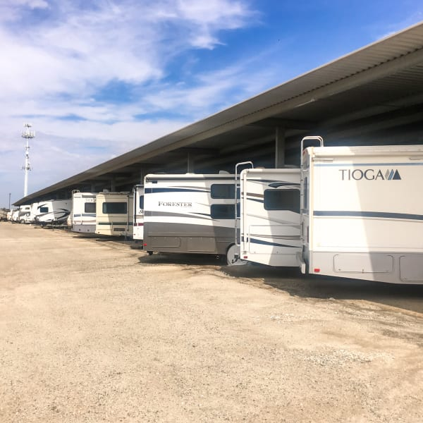 Covered RV and boat parking at StorQuest Self Storage in Long Beach, New York