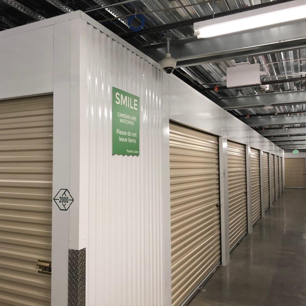 Temperature-controlled storage units at Cubes Self Storage in Kirkland, Washington
