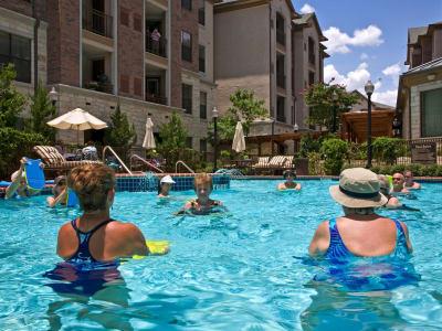 Water aerobics at Discovery Senior Living in Bonita Springs