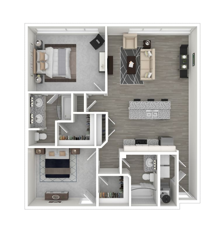 Forrest floor plan at lCallio Propertiesin Chattanooga, Tennessee