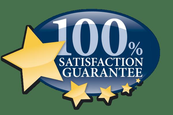 100% satisfaction guaranteed graphic for Discovery Senior Living in Bonita Springs, Florida