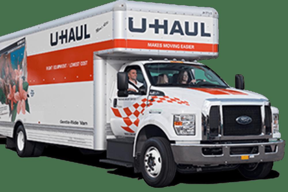 A rental truck at Storage Landing in Buda, Texas