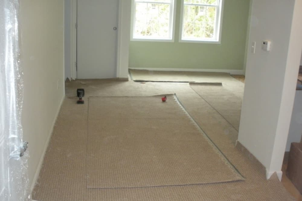 Placing carpet in homes at Serenity, A Randall Residence