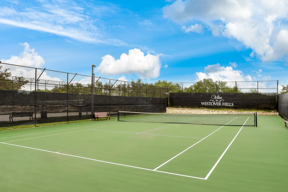 Tennis Court at Villas in Westover Hills in San Antonio, TX