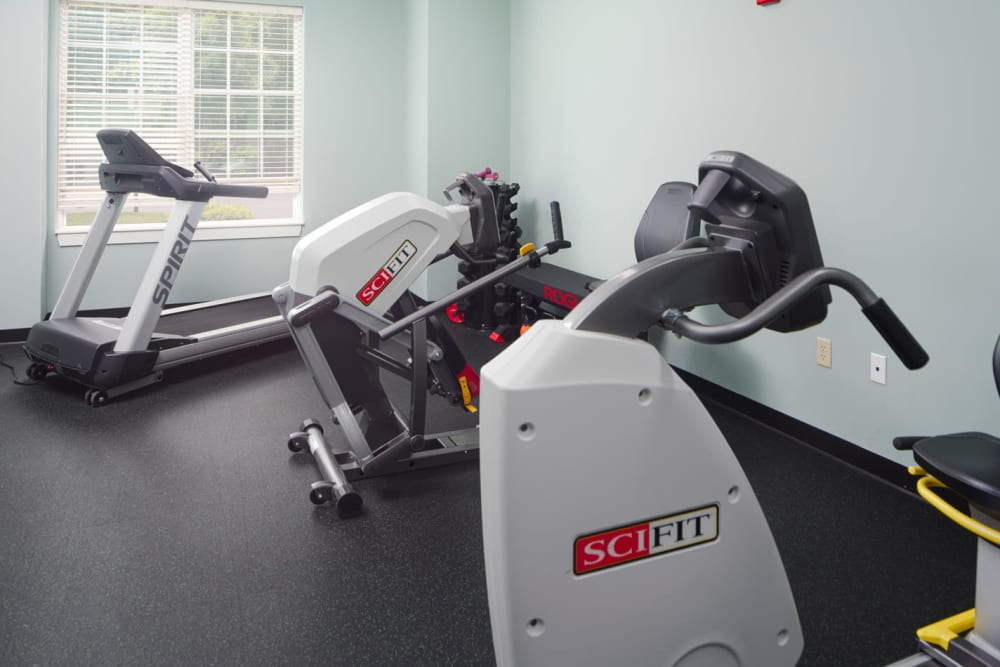 FItness room at Harmony at Chantilly in Herndon, Virginia
