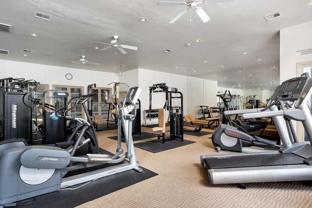 Fitness center at The Lodge at Westover Hills in San Antonio, Texas