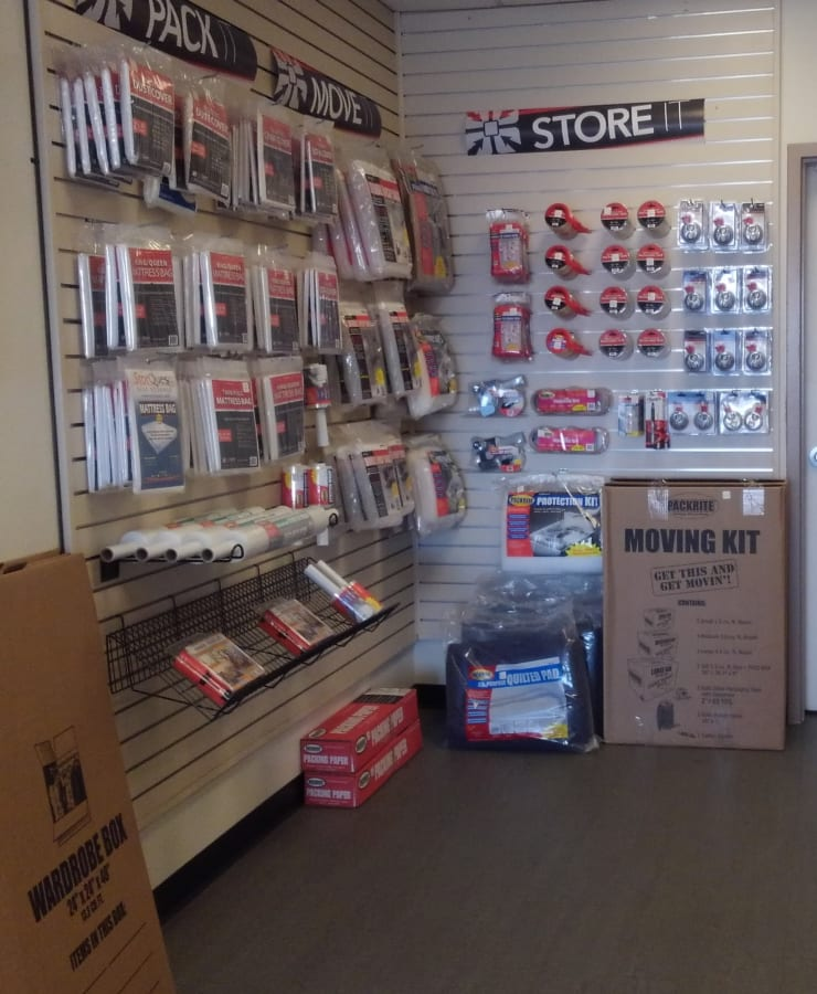 Packing supplies available at StorQuest Self Storage in Sun City, Arizona