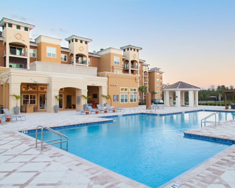 Gorgeous swimming pool at The Gate Apartments in Champions Gate, Florida