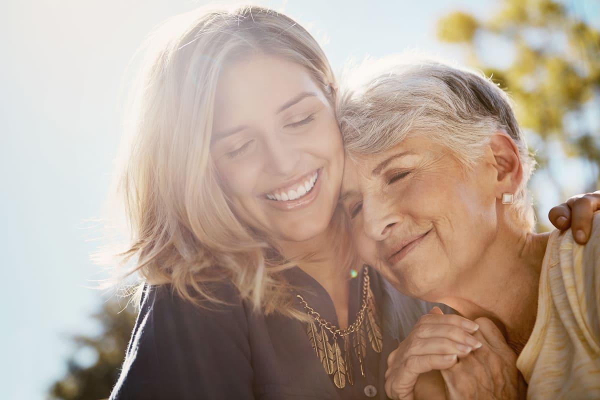 Seniors laughing at MuirWoods Memory Care in Petaluma, California