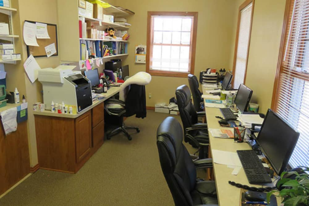 Computer room at Black Forest Veterinary Clinic in Colorado Springs, Colorado