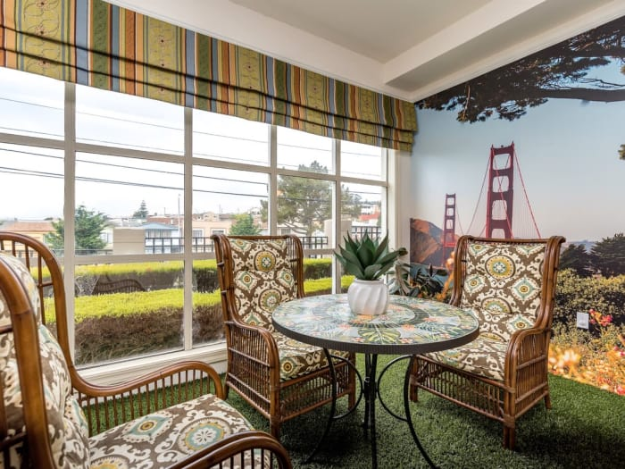 Confort zone at Pacifica Senior Living Mission Villa in Daly City, California