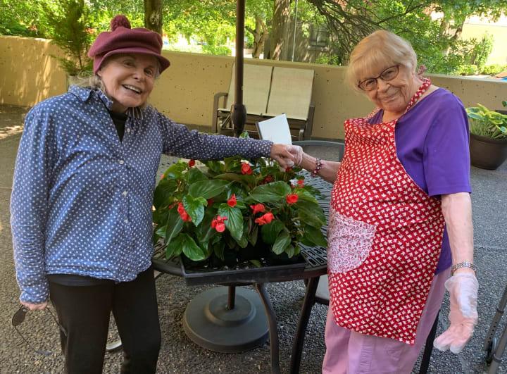 Garden Club members at Merrill Gardens at First Hill