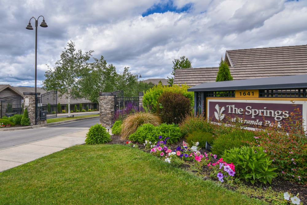 Front entrance to The Springs at Veranda Park facility in Medford, Oregon