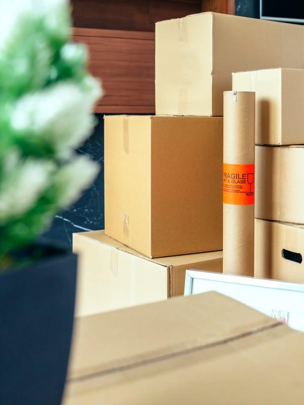 Moving supplies at Devon Self Storage in Davenport, Iowa