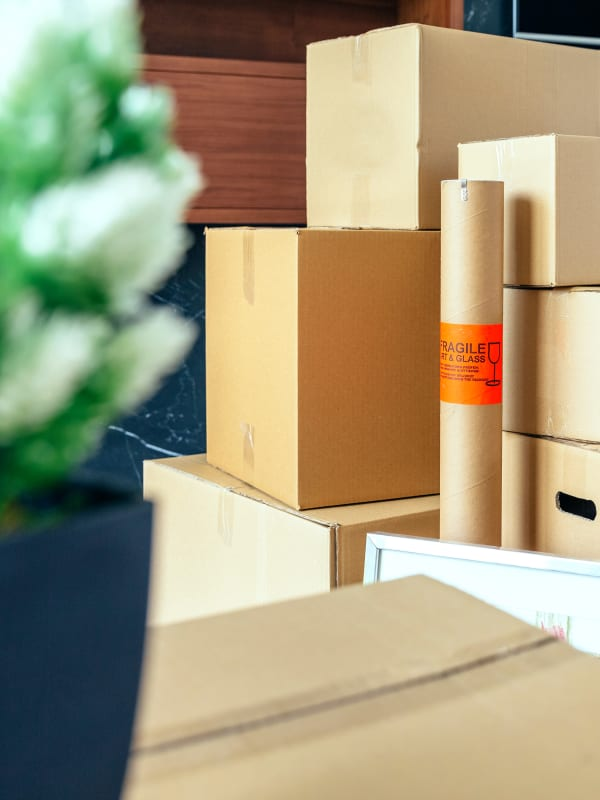 Moving supplies at Devon Self Storage in Holland, Michigan