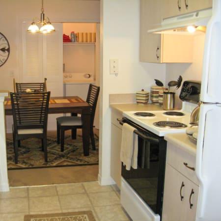 furnished living room at Walker Woods