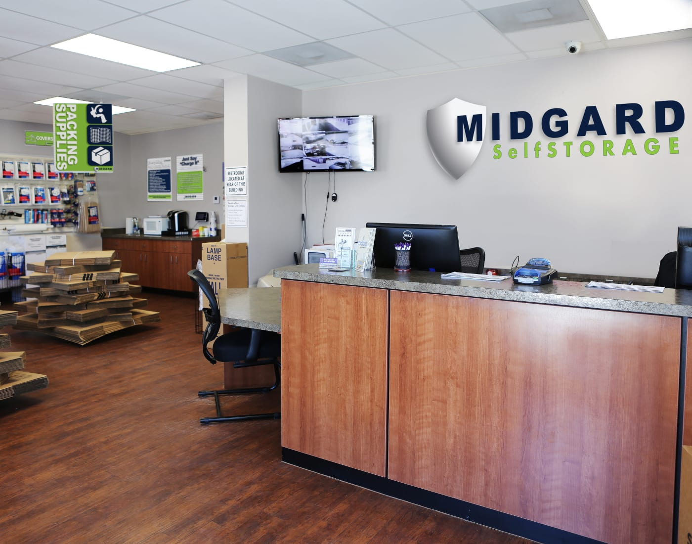 Packing and moving supplies for sale at Midgard Self Storage in Wilmington, North Carolina