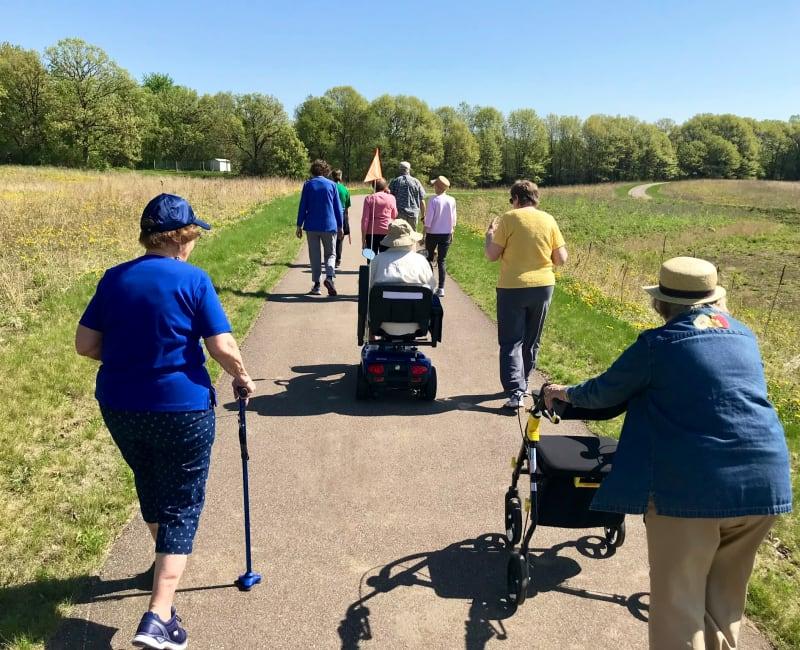 Walking club from Arbor Glen Senior Living in Lake Elmo, Minnesota