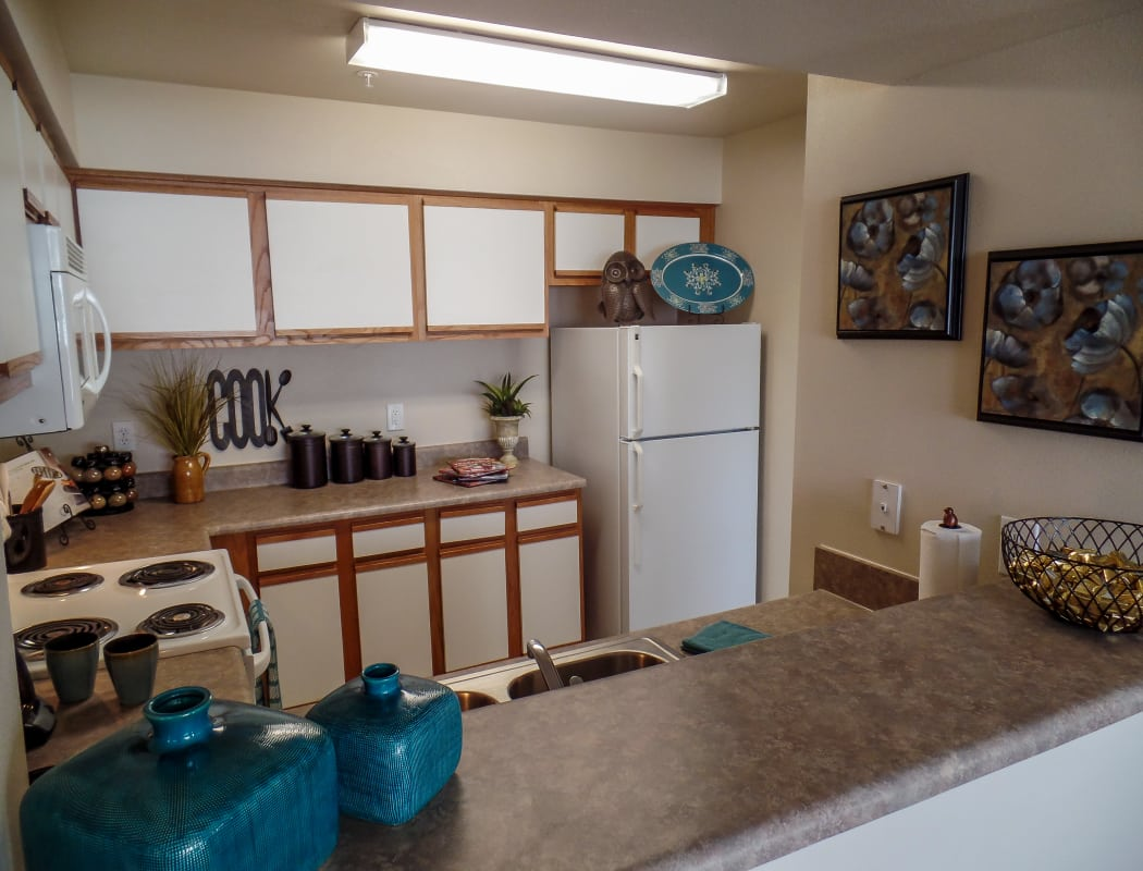 Beautiful kitchen at Winchester Apartments in Amarillo, Texas