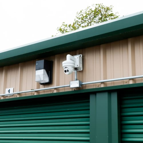 Security camera and light at Red Dot Storage in Walker, Louisiana
