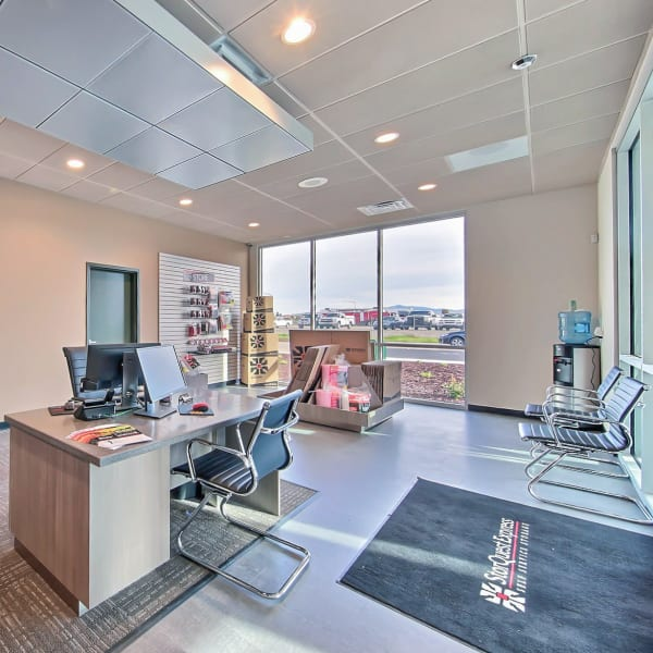 Interior of the leasing office at StorQuest Express Self Service Storage in Phoenix, Arizona