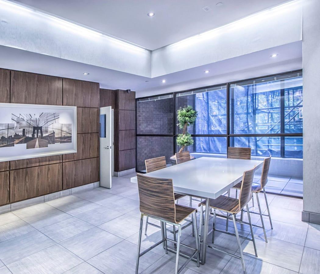 Elegant design and decor at 57 Charles at Bay in Toronto