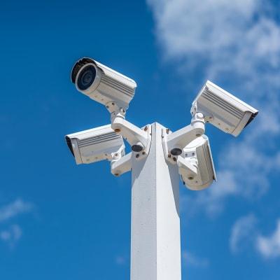 Digital security cameras at A-American Self Storage in Reno, Nevada