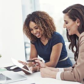 Two women working in Smyrna near Centerview Terrace