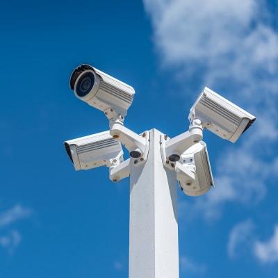 Digital surveillance cameras at A-American Self Storage in El Cajon, California