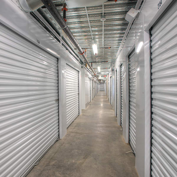 Climate controlled interior units at StorQuest Self Storage in Kyle, Texas