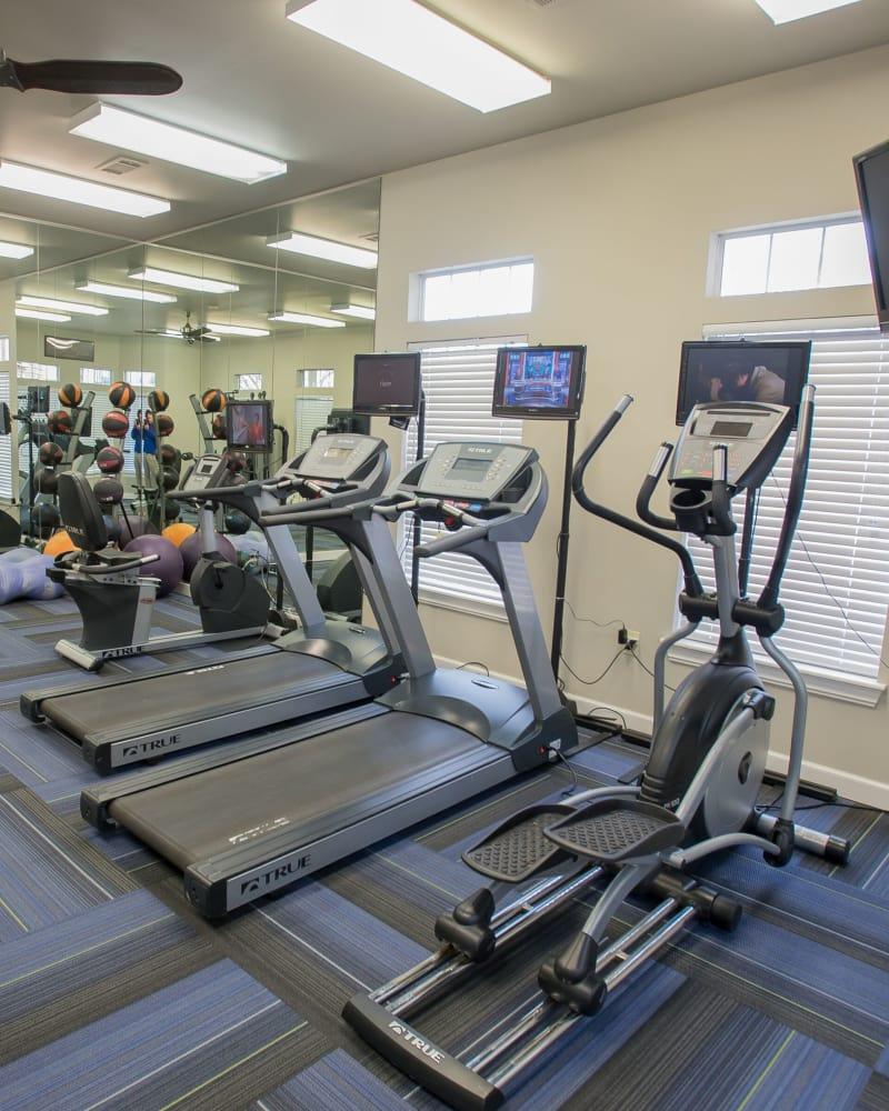 Villas at Aspen Park's fitness center in Broken Arrow, Oklahoma