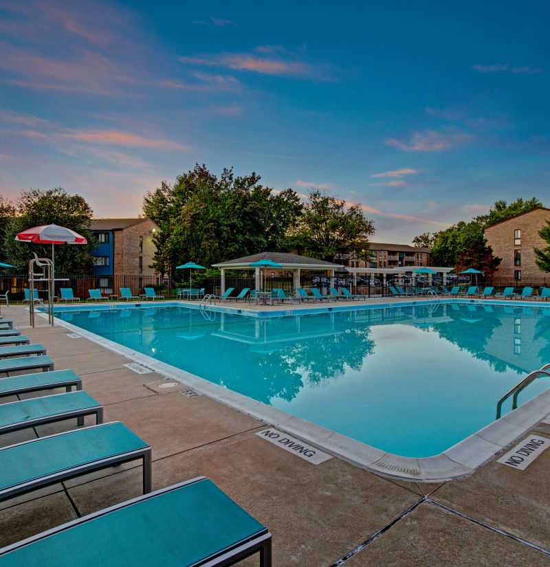 Resort-style swimming pool at The Gateway in Gaithersburg, Maryland