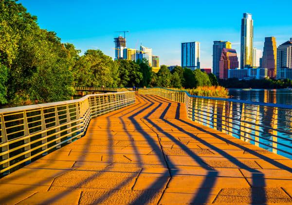 Walking trail in Austin, Texas near The Clark