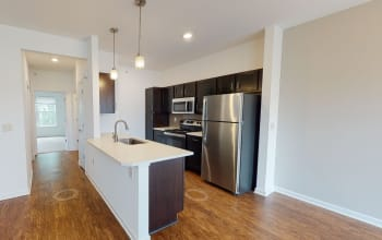 Virtual tour of a one bedroom apartment at Union Square Apartments in North Chili, New York