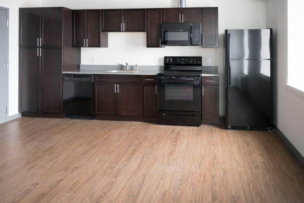 Modern kitchen at Sienna on Sloans Lake in Denver, Colorado